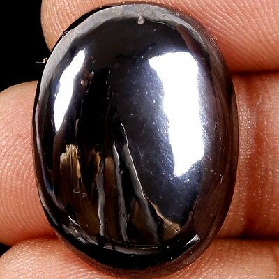 41 Ct. Finest 100% Natural Untreated Hematite Oval Cabochon Loose Gemstones