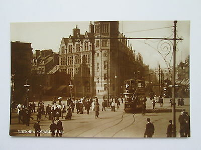 Old RP Postcard - Victoria Square , Hull .