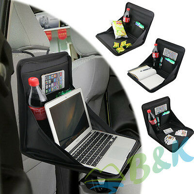 Foldable Car Seat Laptop Notebook Tray Table Food Holder Playing Work Writing