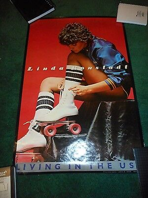 Linda Ronstadt - Living In The U.s.a. - Original Single-Sided Promo Poster -1978