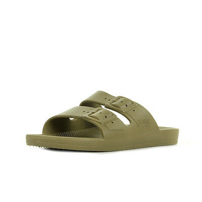 Sandales Nu Pieds Moses unisexe Freedom slippers KHAKI taille Kaki Synthétique