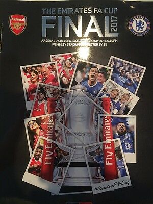 Arsenal Chelsea FA Cup Final 2017 MINT Programme