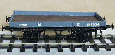 O Gauge Fix Sided One Plank Wagon - Kit Built in Cast Metal with Plastic Floor