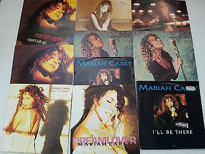 Mariah Carey cant let go vision of love make it happen I'll be there 7inch vinyl