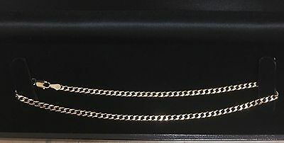 9Kt Solid Gold Curb Chain Anklet With Parrot Clasp Weight 4.2G Length 28Cm