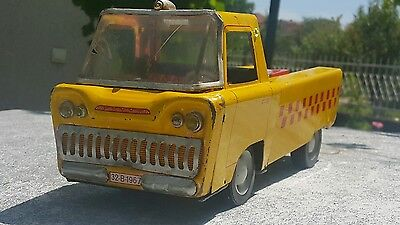 Vintage Truck Metaloglobus 60's Airport Roma Cairo Lido France Tin Toy Friction