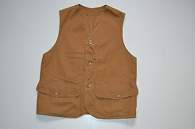 WORKERS Japan outdoor Royal Duck Cotton Canvas Vest Waistcoat Workwear K&TH Mfg