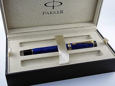 "Parker ""Duofold Centennial Lapis Lazuli "" Fountain Pen with 18K Nib-Box & Papers"