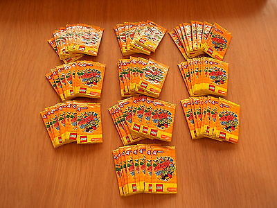 SAINSBURYS LEGO CARD PACKETS    100 SEALED PACKS of 4 CARDS - 400 cards