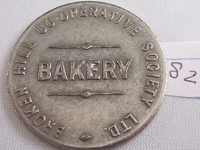 1920's BROKEN HILL CO-OPERATIVE SOCIETY BAKERY ONE LOAF TOKEN VERY FINE
