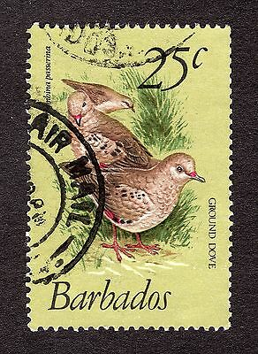 1979 Barbados 25c Scaly breasted ground dove SG629 FINE USED R31081