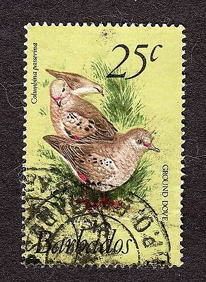 1979 Barbados 25c Scaly breasted ground dove SG629 GOOD USED R31086