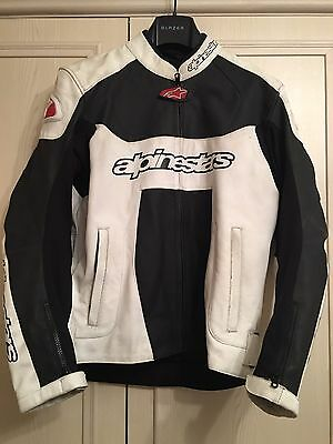 Alpinestars Leather Jacket - Mens - Black & White