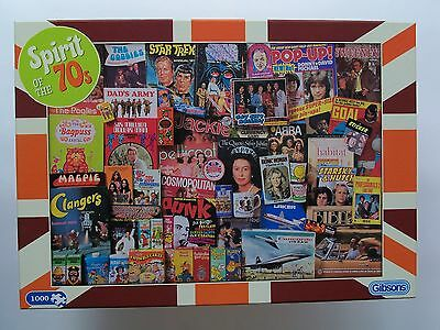 GIBSONS  'Spirit of the 70s' - 1000 piece Jigsaw Puzzle  Complete and VGC