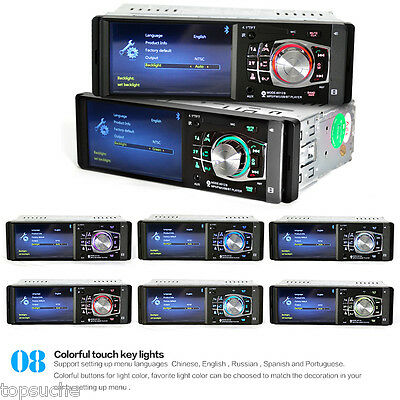 """4.1"""" Android 1 DIN Bluetooth Autoradio Car Stereo MP5 Player FM AUX W/Remote USB"""