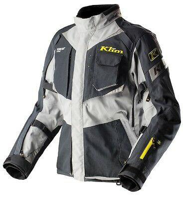 New Klim Gore-Tex Badlands Pro Waterproof Motorcycle Jacket Gray Small
