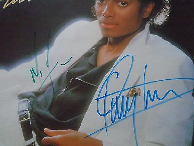 "Michael Jackson And Quincy Jones Personally Signed ""thriller"" Lp Vinyl Record"