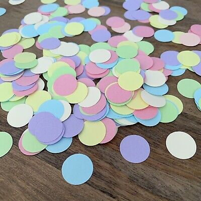 Scalloped Love Heart Table Confetti Mixed Pastels Classic Vintage-550-2.5cm