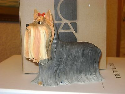 Enesco Country Artists Dogs Yorkie Standing CA06252 BNIB