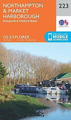 OS Explorer Map (223) Northampton and Market Harborough by Ordnance Survey | Map