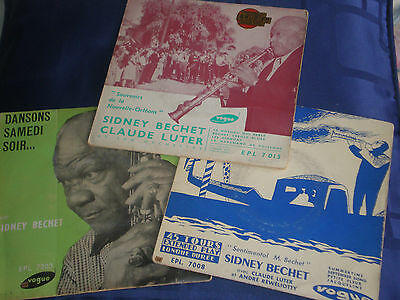 SIDNEY BECHET - JOB LOT OF 3 RARE 1955 FRENCH EPs - VOGUE LABEL