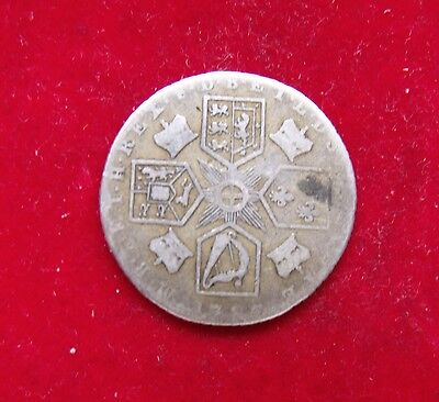 1787 SILVER GEORGE III SIX PENCE  NICE COIN Very worn date not clear