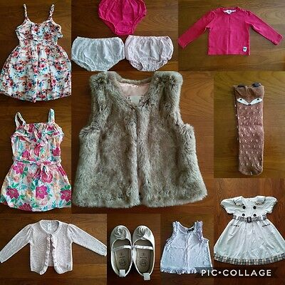 baby girl size 1-2 clothes bundle