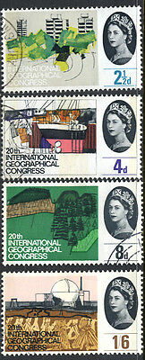 Great Britain QEII 1964 Geographical  set   PHOSPHOR Extremely Fine Used