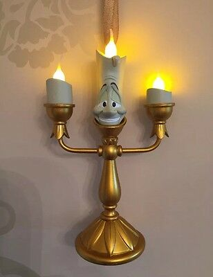 Disney Lumiere Light Up Christmas Decoration Ornament Beauty & The Beast