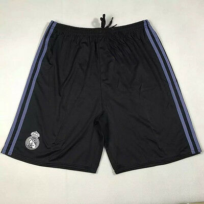 New Mens Adult Black Real Madrid Football Soccer Sports Shorts Pants Size M