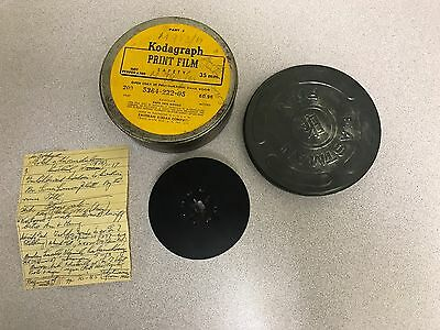 Unknown Subject Matter - Kodagraph Print Film Safety 35mm In Can - Kodak