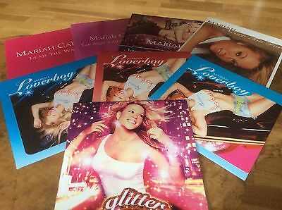 Mariah Carey - Glitter - PROMO Only Album / Singles Set,Pic Card Sleeves.RARE.