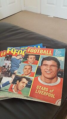 13 Issues Of Charles Buchans Football Monthly - 1963- 1967