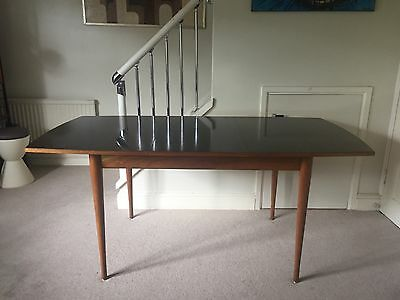 Vintage Rosewood Dining Table by Uniflex 1960s Mid Century Modern Heals Danish