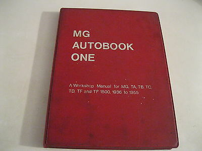 MG AUTOBOOK ONE first edition 1968 MANUAL FOR MG,TA,TB,TC,TD,TF,dal 1936 to 1955