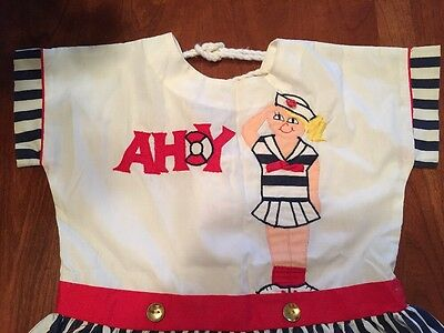 Vintage  Girls Sz 4 T Dress Patriotic Sailor Summer EUC.  1950's  Philippines