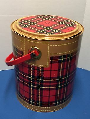 Vintage Hamilton Skotch Kooler 2 Gallon Plaid Scotch Cooler Metal Ice Box