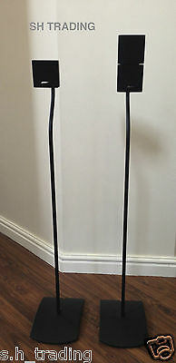2 X Genuine Bose Black Ufs-20 Floor  Cube Lifestyle Acoustimass Speaker Stands