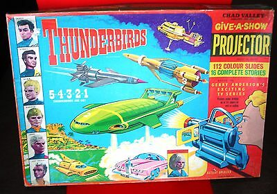 Vintage Gerry Anderson Thunderbirds give a show projector set chad valley 1965