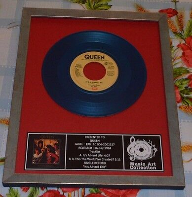 "QUEEN Presentation Discs picture frame  single 7"" collection BLUE"