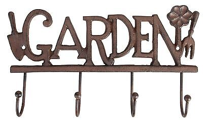 New 4 Hook Hanging Garden Tool Rack Shed Porch Storage Tidy Accessories Decor