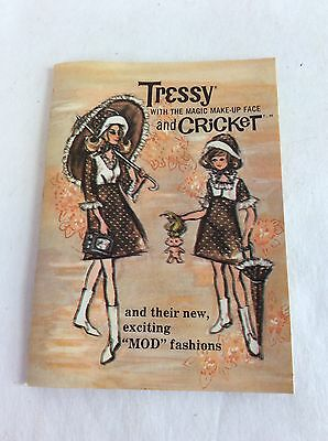 """1965 Tressy & Cricket With The Magic Makeup Face & New """"Mod"""" Fashions Doll Book"""