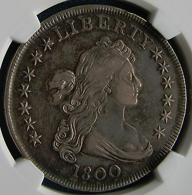 *GORGEOUS 1800 DRAPED BUST DOLLAR w/SUPER TONING! - GRADED XF-45 by NGC*