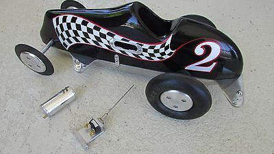 Dooling Arrow proto tether race car project polished lower body K&G racing tires