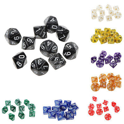 6 Sided Dies D4 D6 D8 D10 D12 D20 DUNGEONS&DRAGONS D&D RPG Dice Playing Game Set