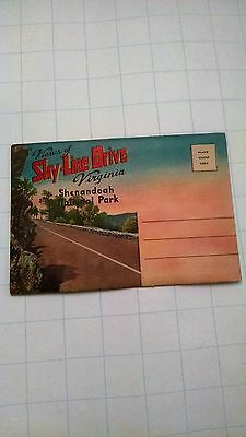 Vintage Souvenir Postcard Folder of Sky-Line Drive and Shenandoah National Park