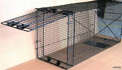 Giant Live Trap  Dog Bobcat Large Raccoon cage trap fox and badger trap... 035B