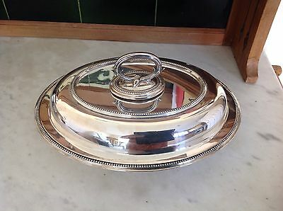 Victorian Silver Plated Entree Dish Ornate Snake Detachable Handle Tho.Wilkinson
