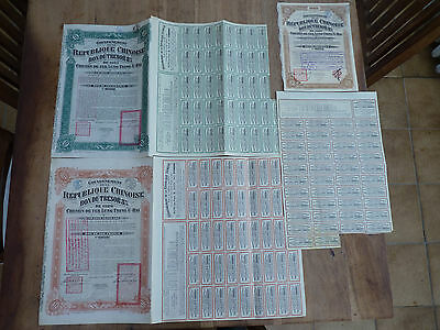 China, LUNG-TSING-U-HAI Railway, Loans of 1920, 1921, 1923 !