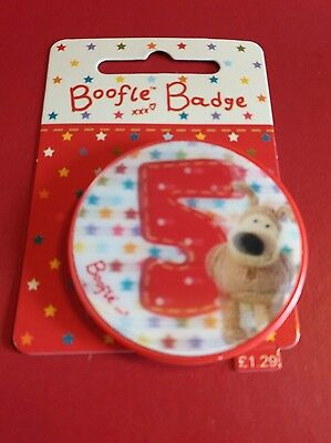 Boofle Badge age 5  *new*